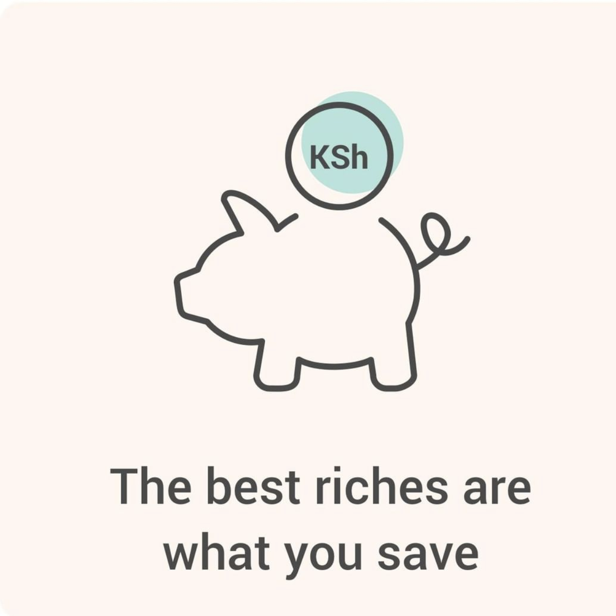 An illustration of a piggy bank