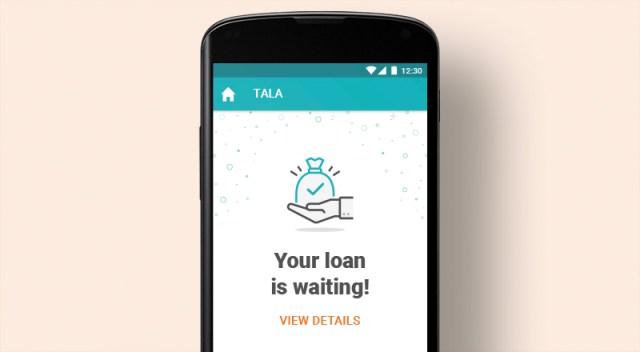 Tala App approval screen