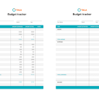 A budget tracker to help you save money!